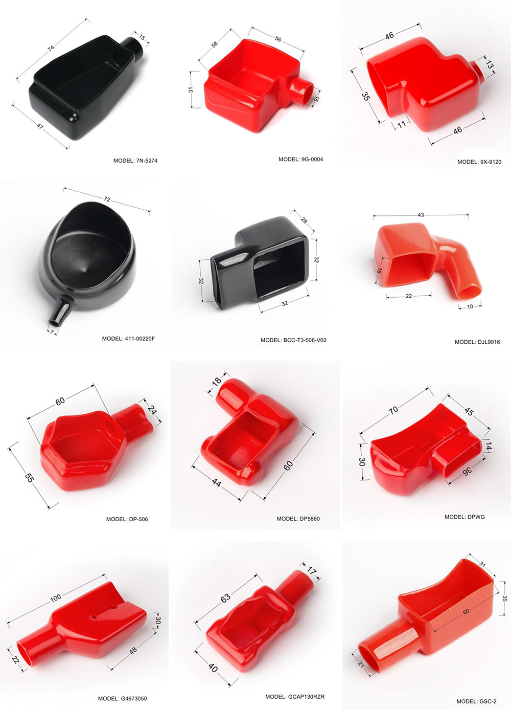 battery terminal shrouds,rubber terminal caps, battery terminal caps, battery cable end cap, cable terminal covers, battery connector caps,